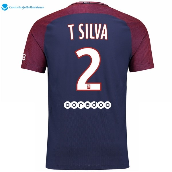 Camiseta Paris Saint Germain Primera T Silva 2017/2018